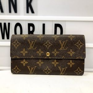 Louis Vuitton Sarah Monogram Bifold Long Wallet